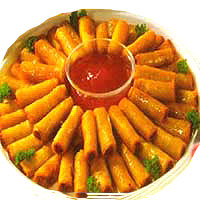 "fruity lumpia dip ""fruity lumpia dip"" is the name of the product a lumpia made primarily of blended fruits such as apple these food come in different fruit."