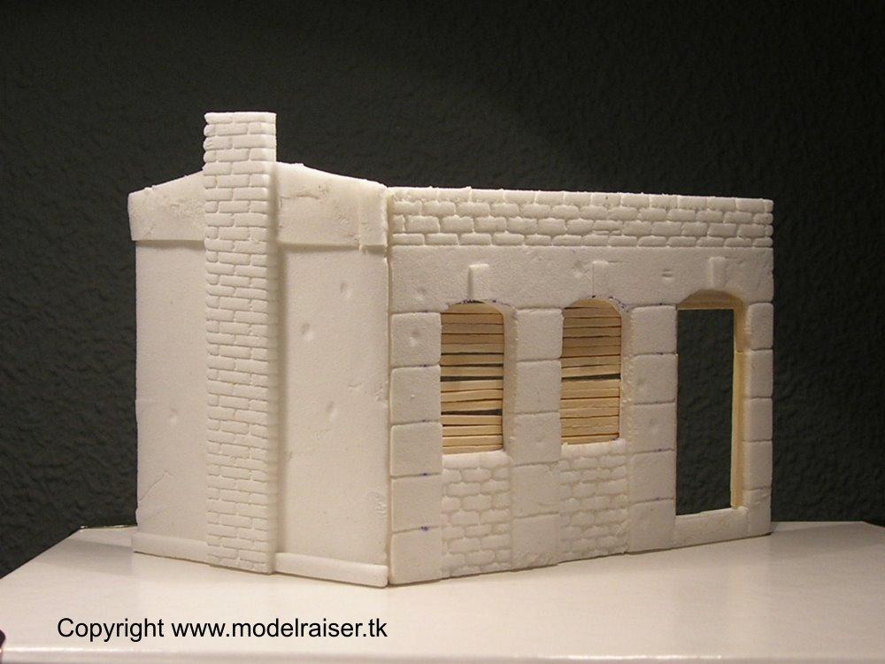 Segunda guerra mundial en miniatura edificio de corcho blanco - Laminas de corcho blanco ...