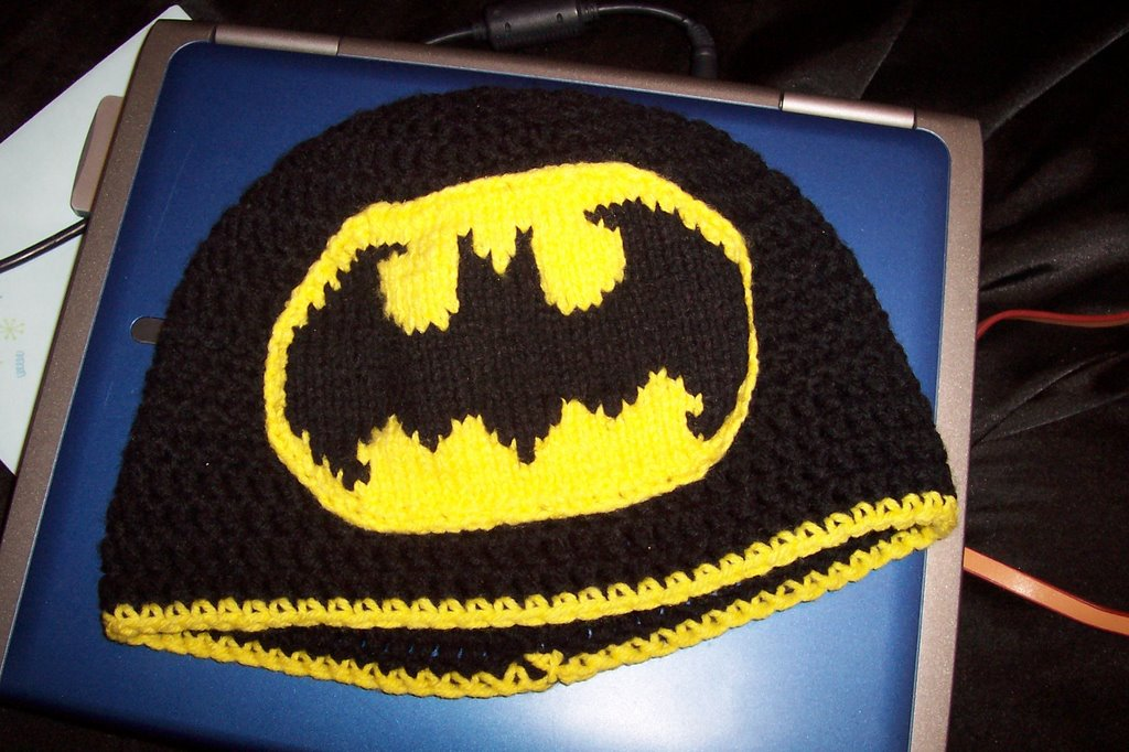 Knitting Pattern Batman Jumper : the Bat Hat - KNITTING