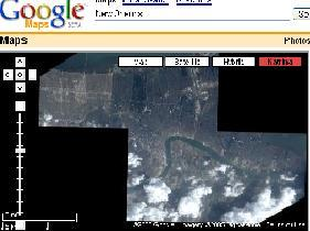 w Orleans, Louisiana via satellite after hurricane Katrina