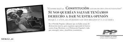 campaña del PP contra el Statut