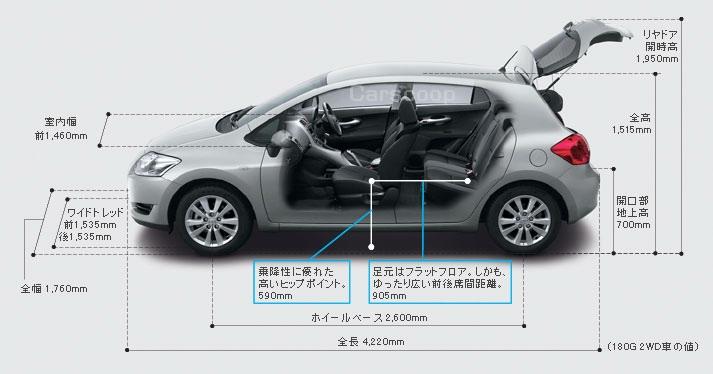 2007 Toyota Auris Production Version Corolla S Successor