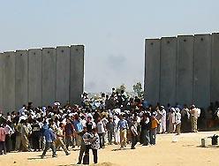 frontera entre Gaza y Egipto