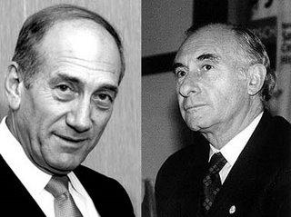 Ehud Olmert y Fernando de la Rua