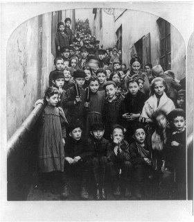 Chicos judíos en Varsovia - 1897