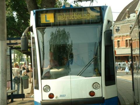 Tranvía en prácticas. Amsterdam, 2005