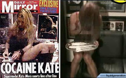 Kate Moss en la portada del Daily Mirror, y el vídeo paródico realizado por Liquid Generation