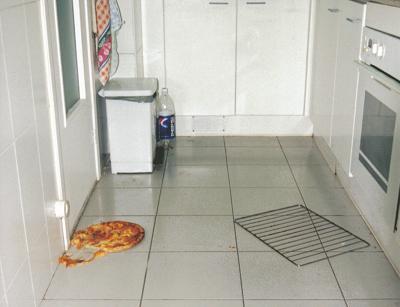 Cómo aprovechar una pizza que se estrella contra el suelo
