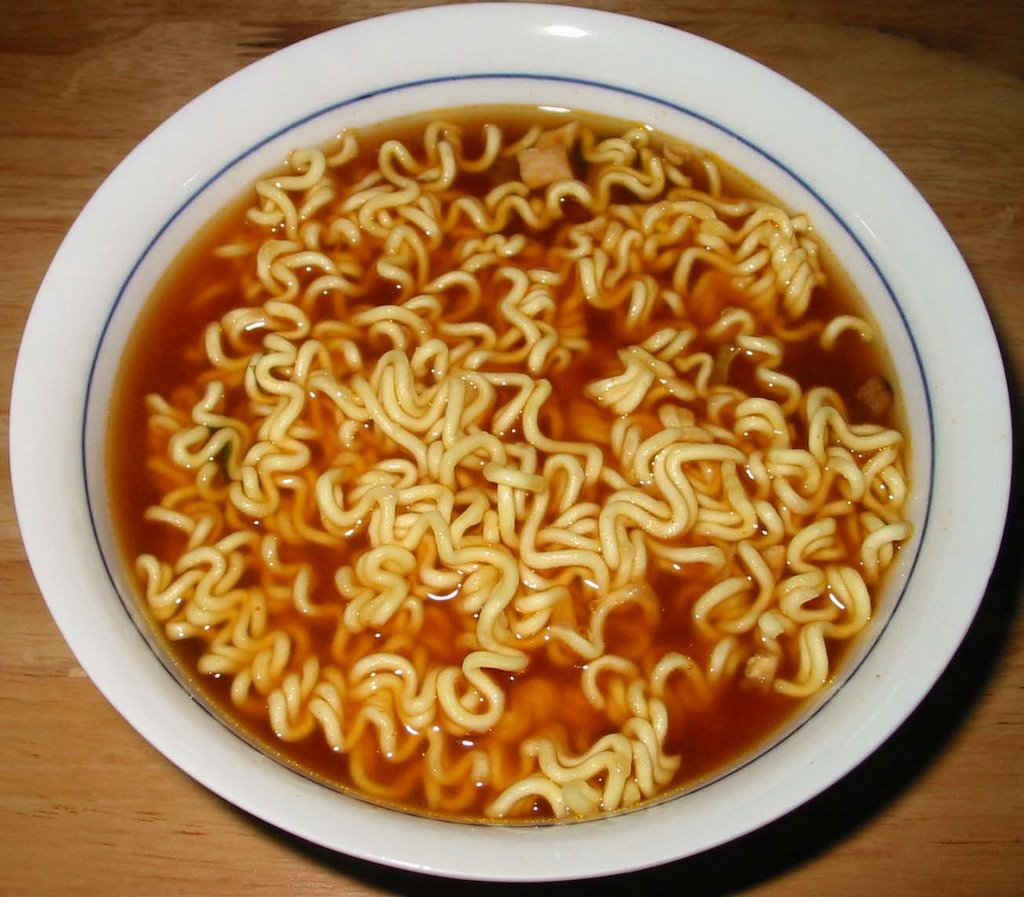 Korean noodles ramen