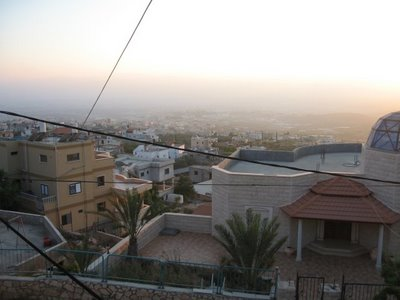 Yarca, looking out at Kfar Yasif and beyond