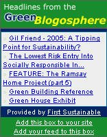 Headlines from the Green Blogosphere Tool