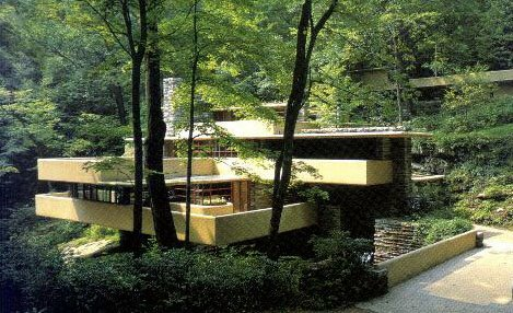 I Give You Frank Lloyd Wrights Fallingwater On Bear Run Pennsylvania