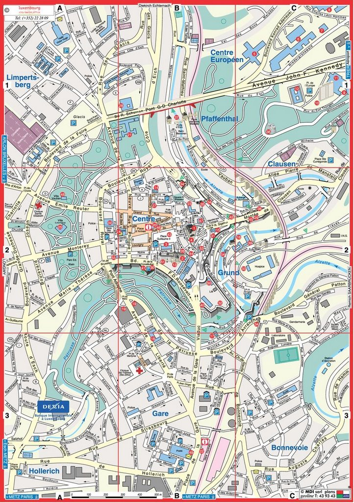 Luxembourg City Map | Maps Luxembourg City Map