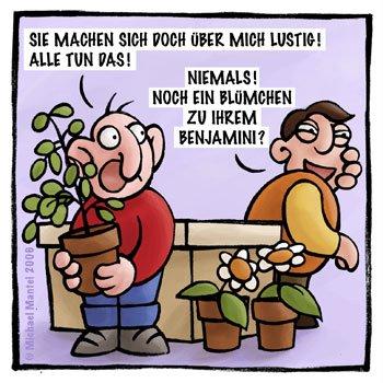 Blumenladen Florist Blumen Benjamin Blümchen Benjamini Cartoon Cartoons Witze witzig witzige lustige Bildwitze Bilderwitze Comic Zeichnungen lustig Karikatur Karikaturen Illustrationen Michael Mantel lachhaft Spaß Humor