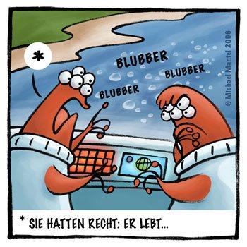 Piranhas gefräßig verfressen Verdauung Verdauungsprobleme Aliens Außerirdische Invasion Knochen pupsen furzen Cartoon Cartoons Witze witzig witzige lustige Bilder Bilder