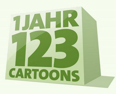 1 Jahr LACHHAFT Cartoons Jubiläum