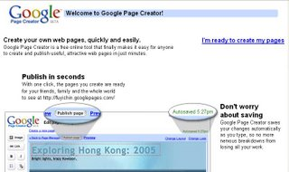 google page creater