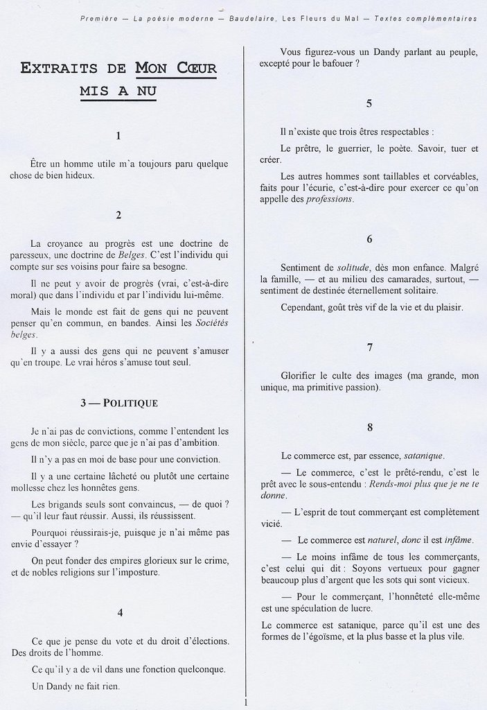 Les phares baudelaire analyse