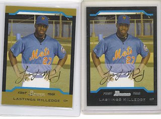 2004 Bowman and Bowman Gold Lastings Milledge rookie cards