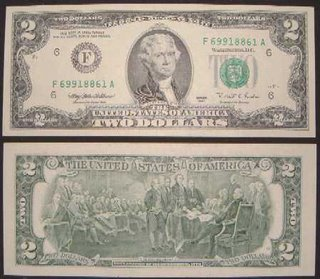 Thomas Jefferson is on the $2 bill, Josh Hughes is on the $3 bill