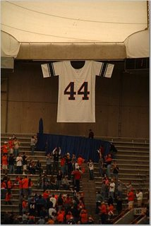 44 hangs in the rafters