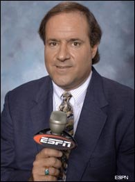 Chris Berman takes her back, back, back, to his hotel room