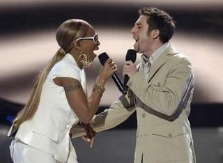 the Queen of R&B and a funky white boy