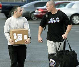 Owens with Lo Duca in spring training