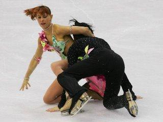 Italians Barbara Fusar-Poli and Maurizio Margaglio were leading the competition, until this fall