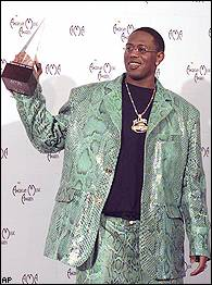 Master P in a fly suit, that's beautiful vhut is that, velvet?