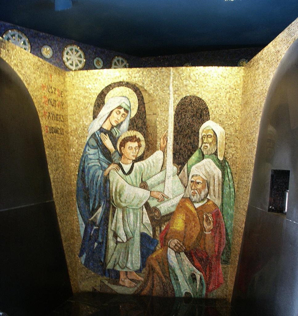 Mosaic of Finding the Child Jesus in the Temple, Saint Louis, called