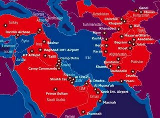 Rome Of The West February - Map of us bases around iraq
