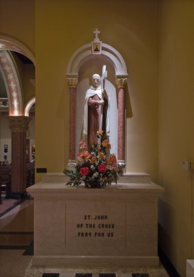 Discalced Carmelite Monastery in Saint Louis County, Missouri - statue of Saint John of the Cross