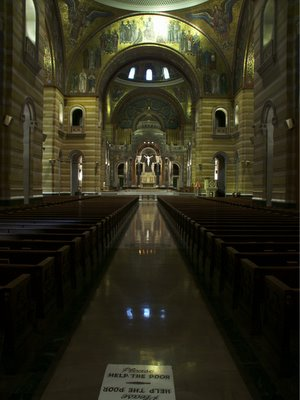 Cathedral Basilica of Saint Louis, in Saint Louis, Missouri, USA - nave