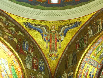 Cathedral Basilica of Saint Louis, in Saint Louis, Missouri, USA - Mosaic of an angel