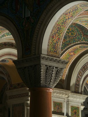 Cathedral Basilica of Saint Louis, in Saint Louis, Missouri, USA - column capital
