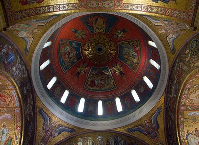 Cathedral Basilica of Saint Louis, in Saint Louis, Missouri - main dome