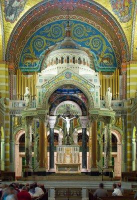 Cathedral Basilica of Saint Louis, in Saint Louis, Missouri - sanctuary
