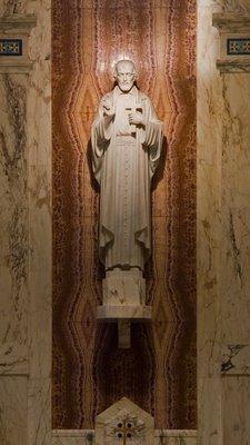 Cathedral Basilica of Saint Louis, in Saint Louis, Missouri - statue of Saint Vincent de Paul