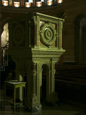 Cathedral Basilica of Saint Louis, in Saint Louis, Missouri, USA - pulpit