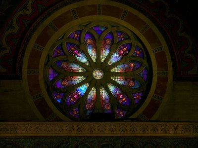 Cathedral Basilica of Saint Louis, in Saint Louis, Missouri, USA - south rose window
