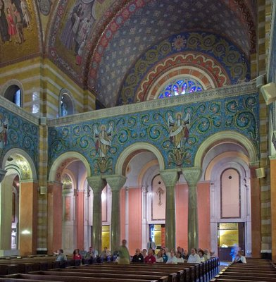 Cathedral Basilica of Saint Louis, in Saint Louis, Missouri - view to back of nave