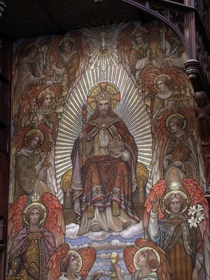 Tapestry of Christ the King, at Saint James the Greater church, in Saint Louis, Missouri