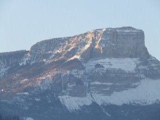 Sunrise on the mountain near Chambery