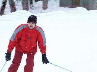 Hubby Skiing!