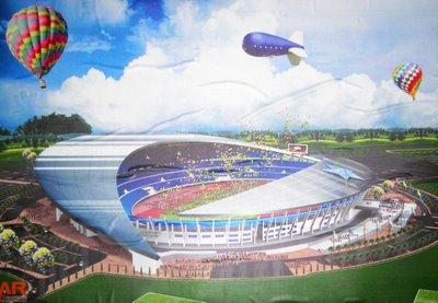 lakaran bakal stadium terengganu.. ketiga terbesar di Malaysia..