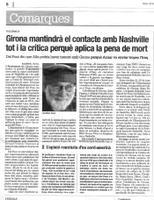 Girona mantindrà el contacte amb Nashville tot i la crítica perquè aplica la pena de mort