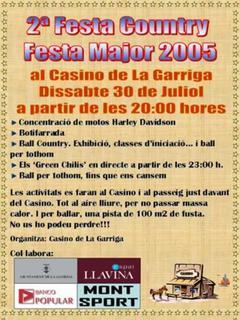 Cartell 2ª Festa Country La Garriga