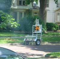 one of two new Champaign speed indicator devices