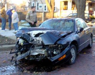 smashed car